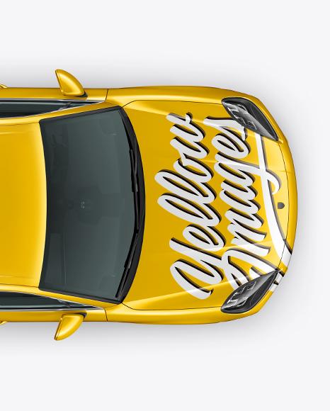 Luxury Crossover 5-doors Mockup - Top View