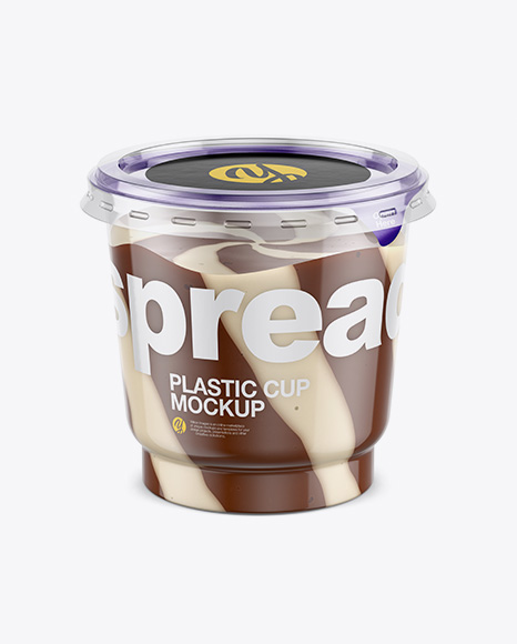 Clear Plastic Cup with Mixed Spread Mockup (High-Angle Shot) Packaging Mockups