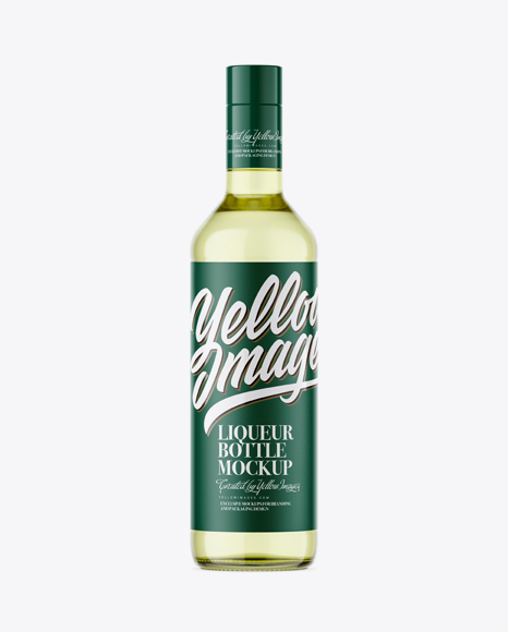500 ml Clear Glass Liqueur Bottle Mockup