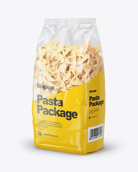 Fiocchi Rigati Pasta Mockup - Half Side View