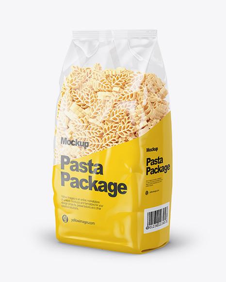 Spighe Pasta Mockup - Half Side View