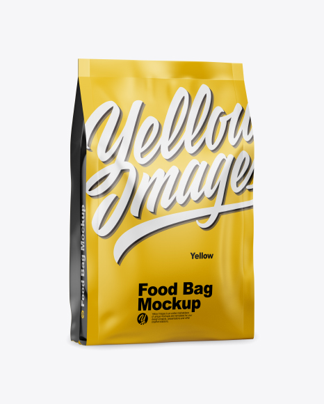 Matte Food Bag Mockup - Half Side View