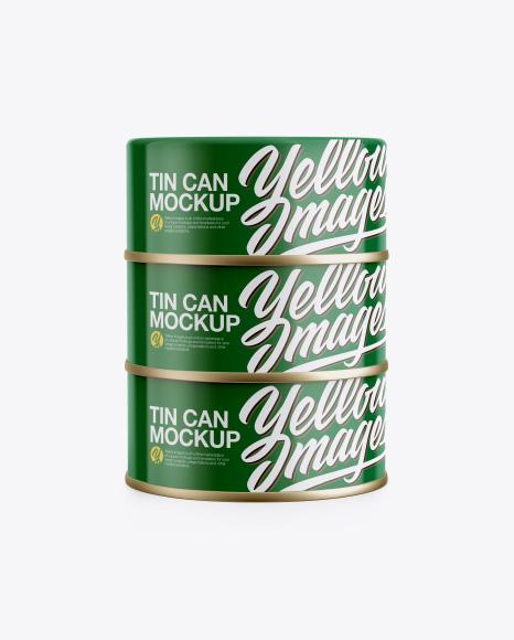 Three Cans Mockup