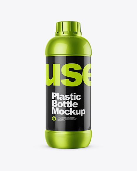 Metallized Plastic Bottle Mockup
