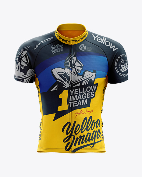 Men's Classic Cycling Jersey mockup (Front View)