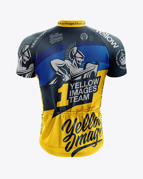 Men's Classic Cycling Jersey mockup (Back View)