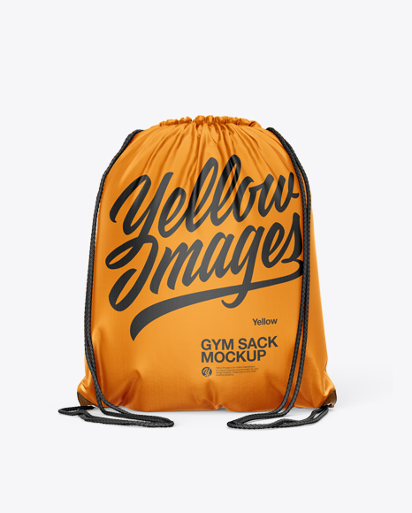 Gym Sack Mockup - Back View