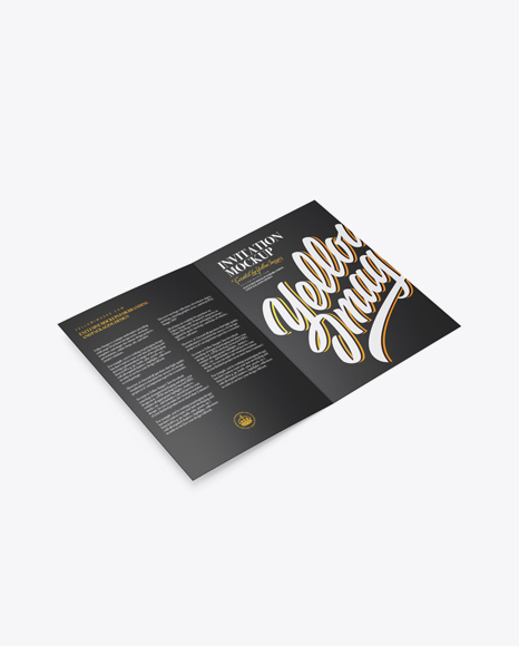 A5 Invitation Brochure Mockup