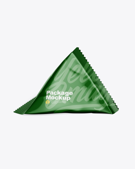Triangular Package Mockup - Front View (High-Angle Shot)