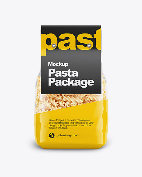 Fusilli Pasta with Label Mockup - Front View