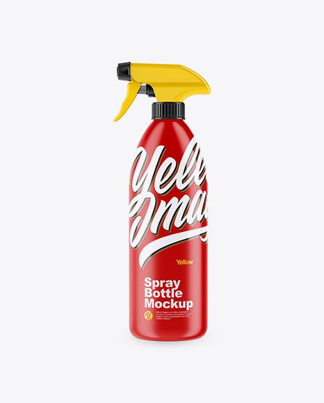 35oz Spray Bottle Mockup