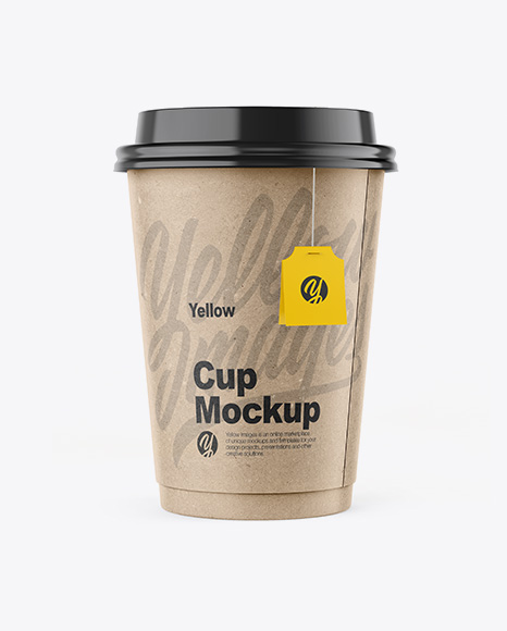 Kraft Cup Mockup - Front View