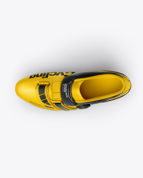 Cycling Shoe Mockup - Top View
