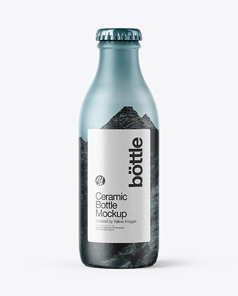 180ml Ceramic Bottle Mockup