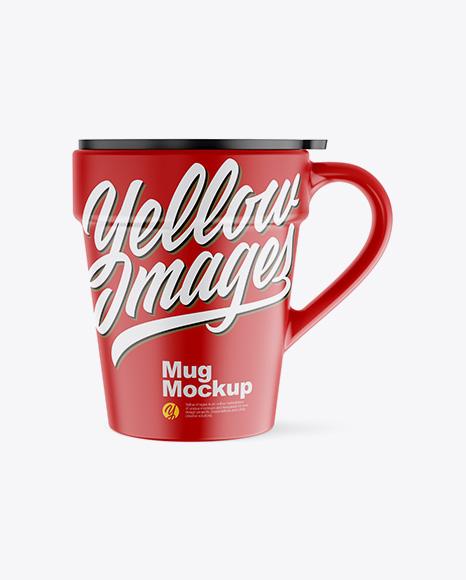 Matte Mug w/ Cap Mockup - Front View