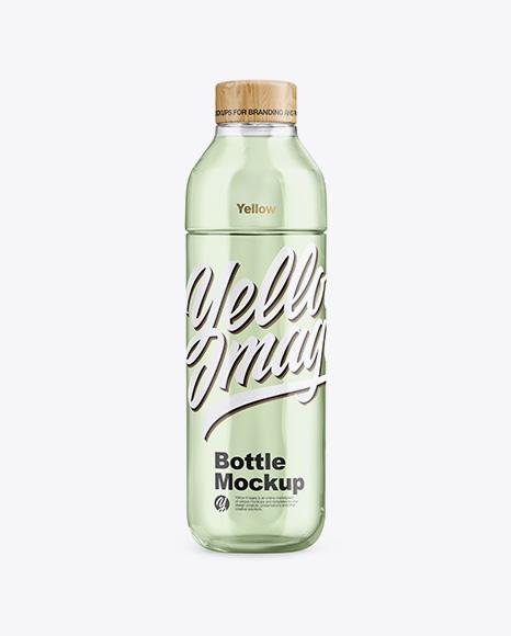 Glass Bottle With Liquid Mockup