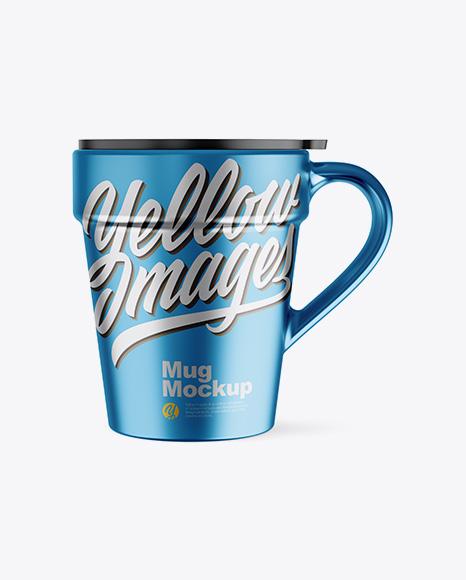 Matte Metallic Mug w/ Cap Mockup - Front View