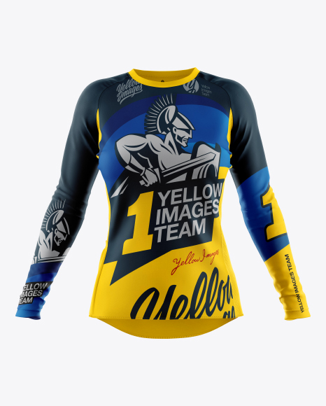 Women`s Cycling Jersey Mockup - Front View