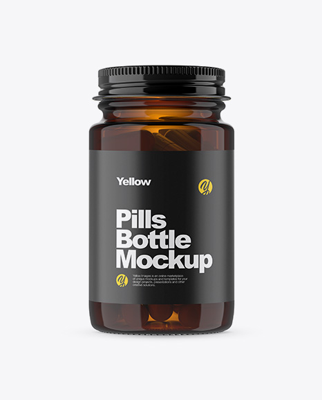 Download Supplement Bottle Mockup Psd Free Download Yellow Images