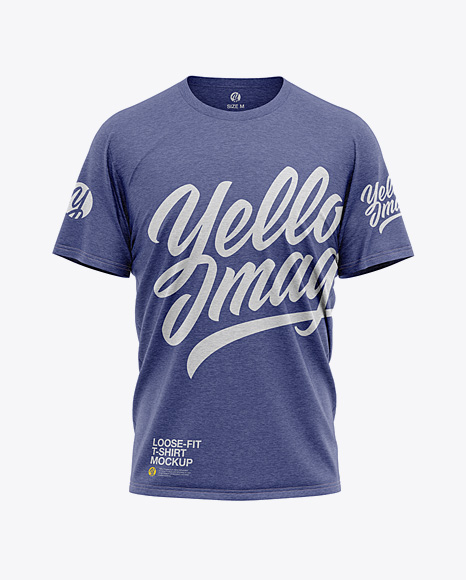 Men's Heather Loose Fit T-Shirt - Front View