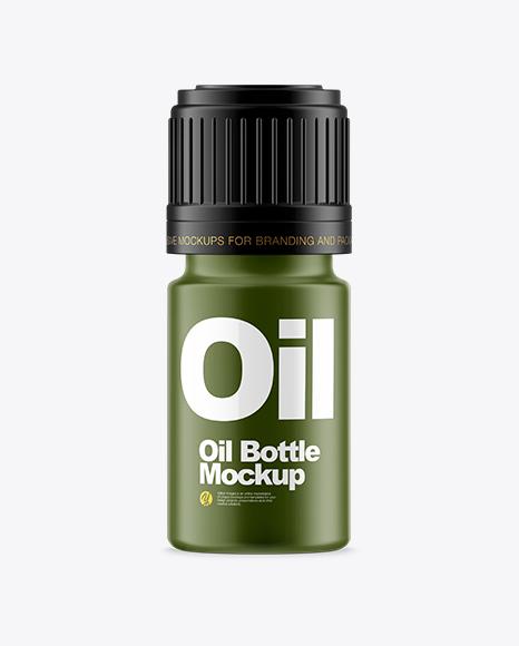 Matte Small Oil Bottle Mockup