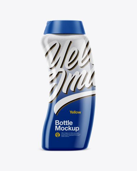 Plastic Bottle with Salt Mockup