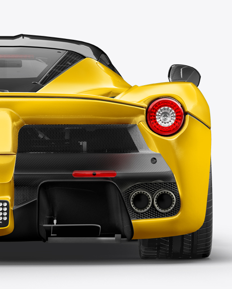 Super Car Mockup - Back View