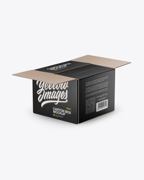 Half-Open Box Mockup
