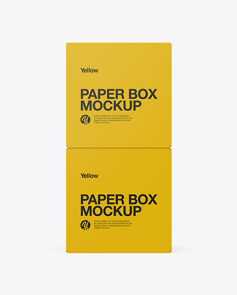 Two Paper Boxes Mockup - Side View