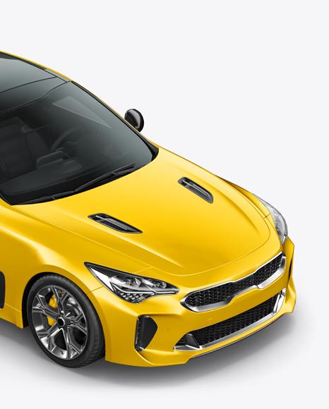 Sport Car Mockup - Half Side View (High-Angle Shot)