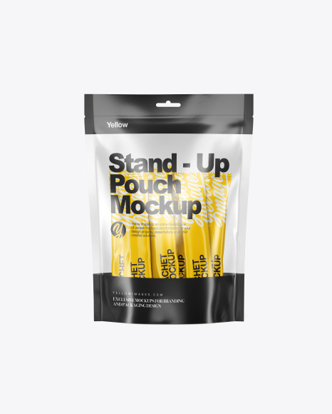 Stand-Up Pouch with Sachets Mockup