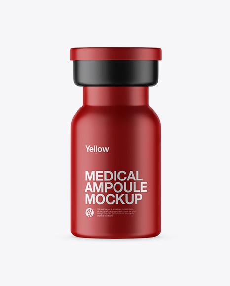 Matte Medical Ampoule Mockup