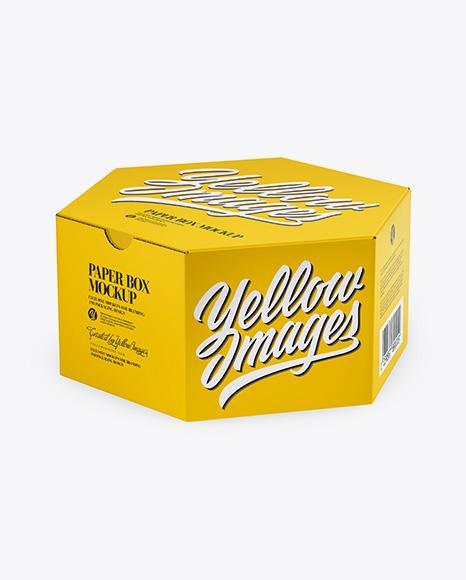 Download Hexagon Box Mockup Yellowimages
