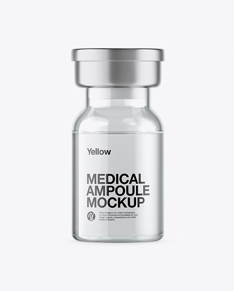 Clear Glass Medical Ampoule Mockup