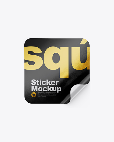 Square Sticker Mockup
