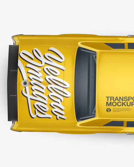 Muscle Car Mockup - Top View