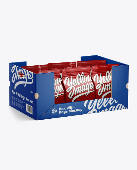 Box w/ 6 Bags Mockup