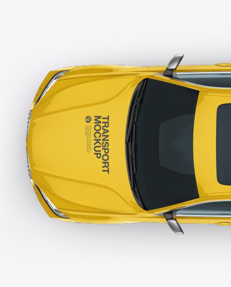 SUV Crossover Car Mockup - Top View