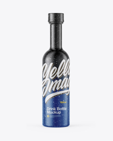 Bottle w/Condensation in Shrink Sleeve Mockup