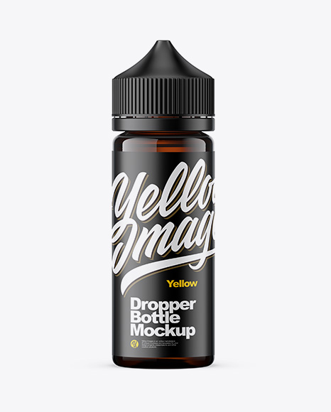 120ml Amber Glass Dropper Bottle Mockup