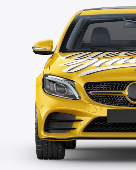 Compact Executive Sedan Mockup - Front View