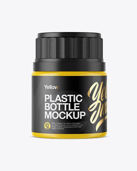 50 ml Plastic Pills Bottle Mockup