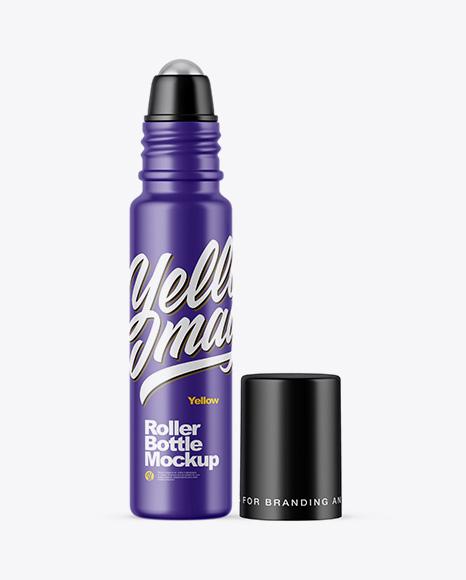 10ml Matte Roller Bottle Mockup