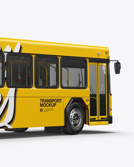 Hybrid Bus Mockup - Back Half Side View