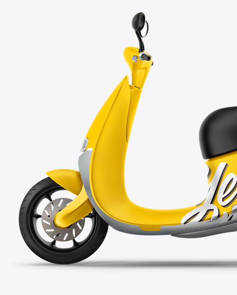 Scooter Mockup - Left Side View