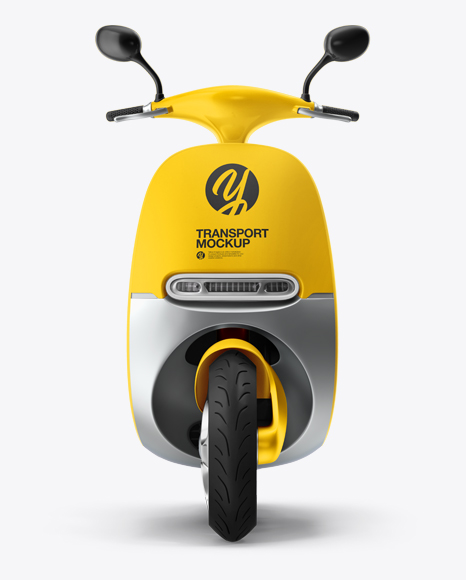 Scooter Mockup - Front View