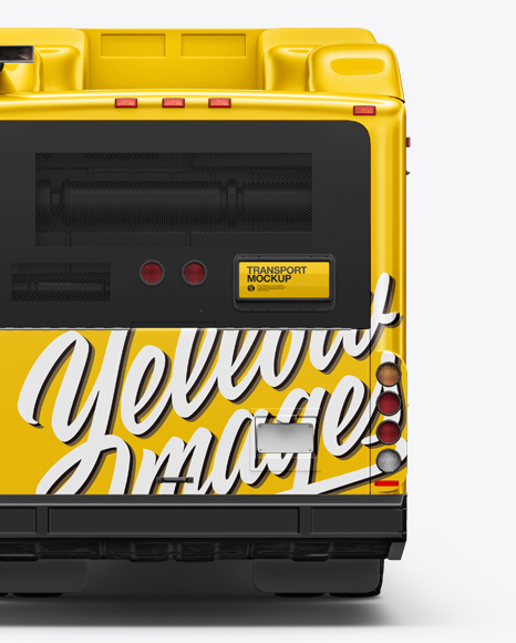 Hybrid Bus Mockup - Back View