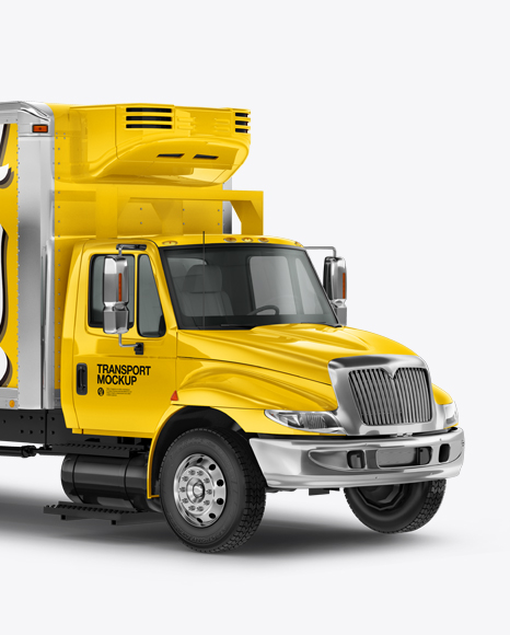 Download Box Truck Mockup - Side View - Box Truck Mockup - Left ...