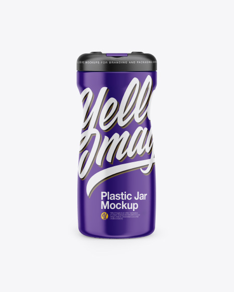 Plastic Coffe Jar Mockup