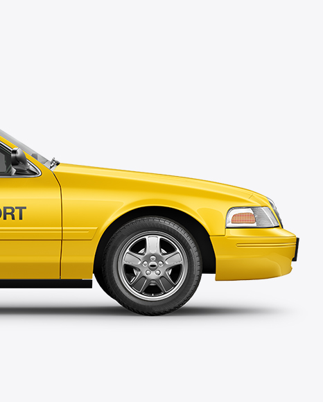 New York Taxi Mockup - Side View